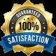 100 Percent Satisfaction Guaranteed Tree Service Badge