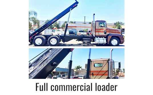 Full Commercial Loader Truck with Raised Bed