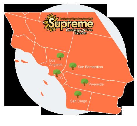 supreme tree service map
